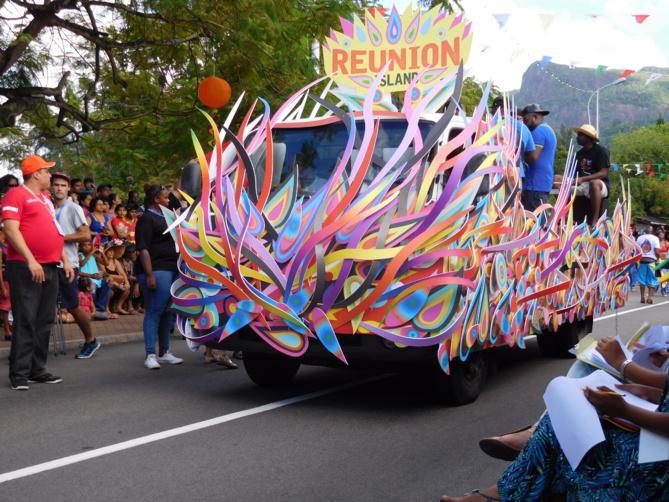 Le char de La Réunion