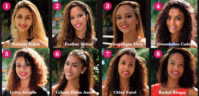 Miss Avirons 2016<br>Les candidates