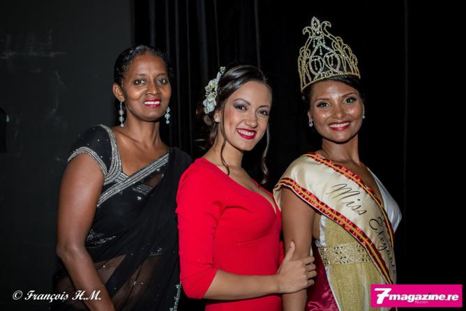 Sabey, Jade Soune Yen, 1ère dauphine Miss Elégance Inter 2015, et Florence Cataye