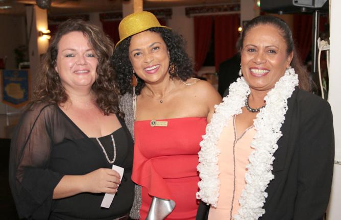 Corinne Mercieca dy Lions Club Sainte-Marie, et ses invitées