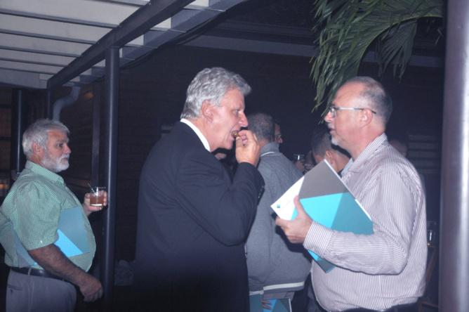 Inel Morel, gérant de société, Jacquet Hoarau, 1er adjoint Mairie du Tampon, et Thierry Fayet