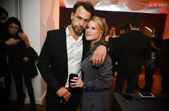 Cedric Delsaux et son amie