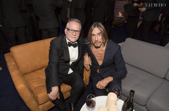 Thierry Fremaux, le délégué général du Festival de Cannes, et la star Iggy Pop