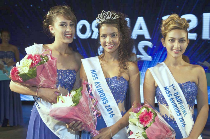 Céleste Aure, 2ème dauphine, Gwendoline Cadet, Miss Avirons 2016, et Mélanie Taijah, 1ère dauphine