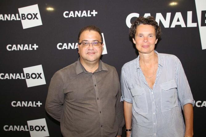 Eric Fontaine, rédacteur en chef Antenne Réunion, et Catherine Carde