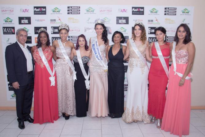 """Les """"anciennes"""" Miss Bras Panon étaient conviées à la finale 201, toutes élues avec Aziz Patel comme président du jury"""