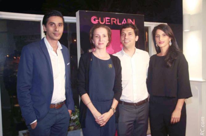 Shakir Locate, directeur de Nocibé à La Réunion, Stéphanie, Julien Fagoaga, représentant Guerlain Océan Indien, et Malika Locate, épouse de Skhakir, et dirigeante de Nocibé