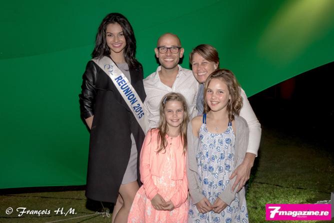 Azuima Isa avec Thibaud Serre et sa petite famille