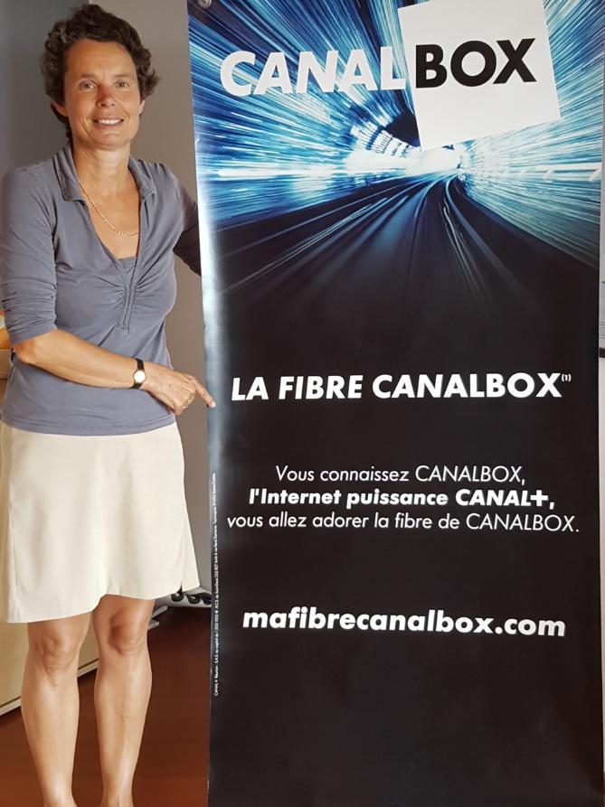 Catherine Carde, la directrice générale de Canal+ Réunion, lance la fibre Canalbox