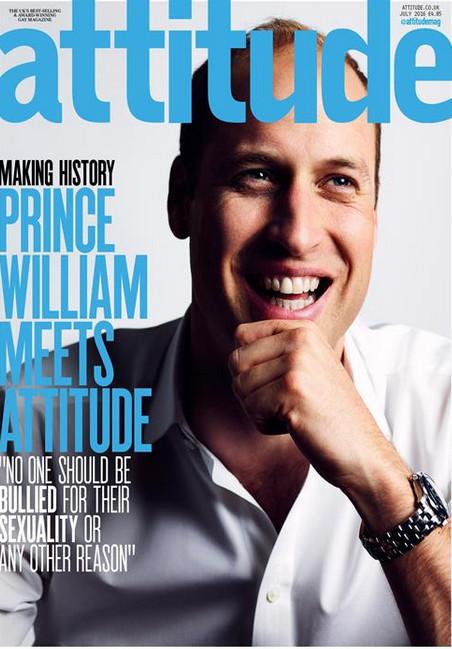 Le Prince William en Une d'un magazine gay