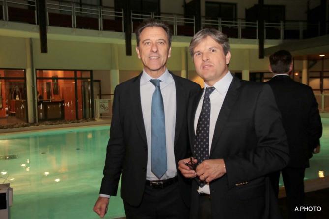 Michel Lapeyre et Mr Daubenton, directeur Sorelait