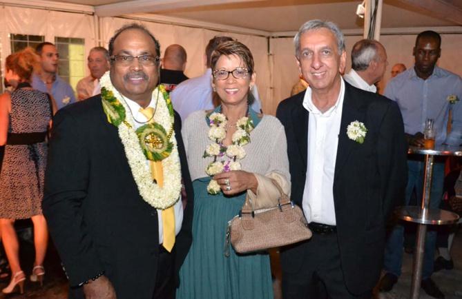 Théophane et Chrislène Narayanin, et Aziz Patel