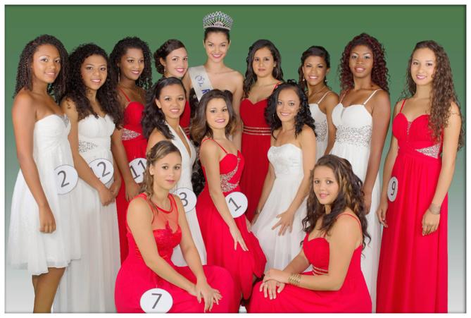 Miss Réunion avec les 13 candidates