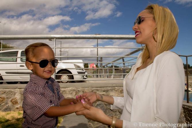 Avec son fils Djiliyan