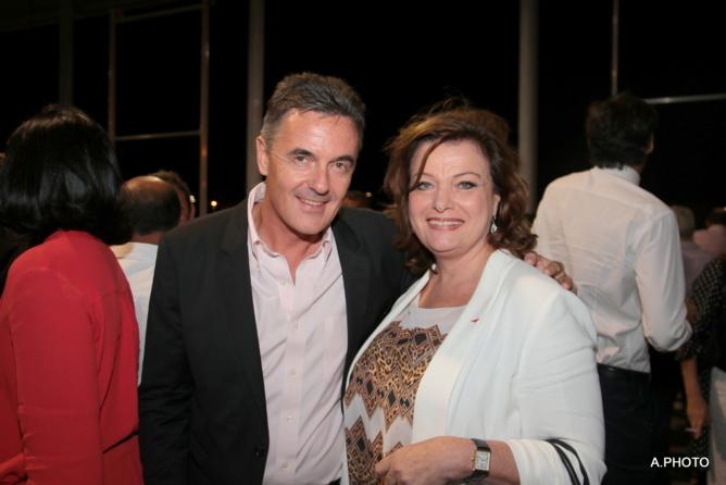 Philippe Jost et Jeanne Loyher, directrice régionale des sociétés de dialyse Réunion/Mayotte