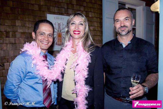 Dominique Noël, directeur des ventes Air France ; Stéphanie Martimort, et Gil Guillaumin attaché commercial Air France
