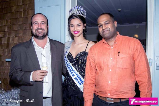 Yoann et Dave accompagnés de Miss Réunion