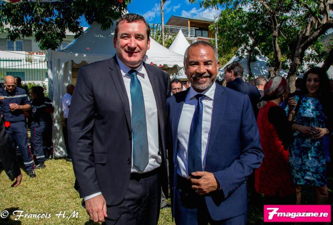 Pascal Turonnet, directeur du Mercure Créolia et Dominique Dufour, secrétaire général d'Air Austral