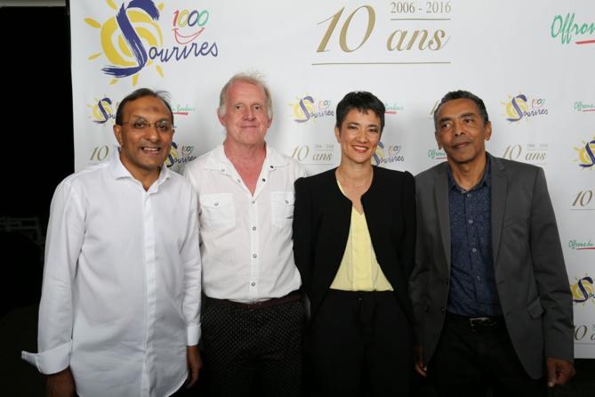 Ibrahim Ingar, Jean-Marc Goglione, Carole Chane-Ki-Chune, et Thierry Jardinot
