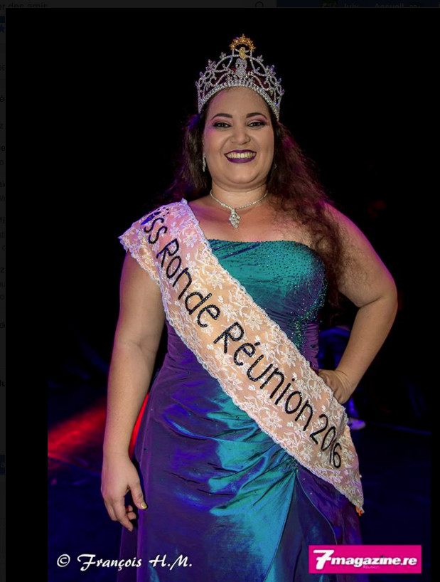 Agnès Dijoux élue Miss Ronde Réunion 2016