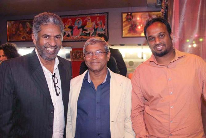 Prithiviraj Pyndiah, commerçant, et les Permalnaick, père et fils