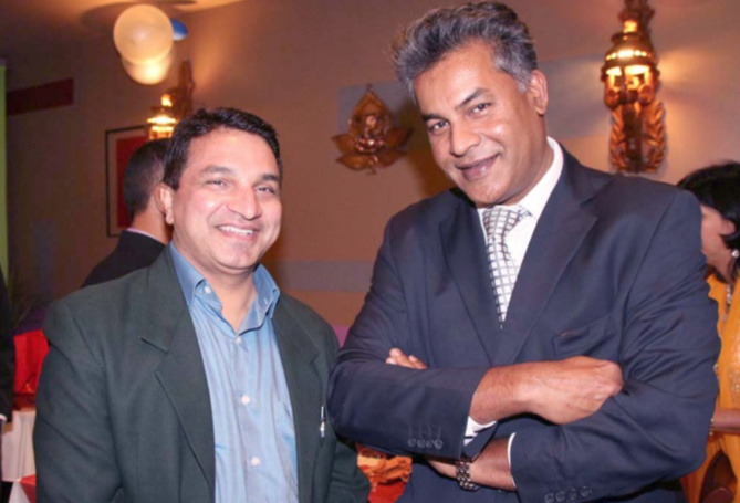 Sanjeev Kumar Bhati, et Jean-Max Govindassamy, vice-président Gopio Reunion St-Denis