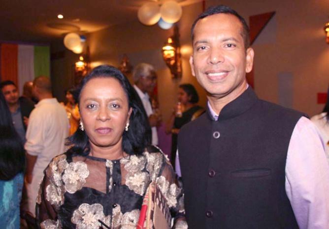 Marie-Paule Balaya, conseillère départementale et Jean-Régis Ramsamy