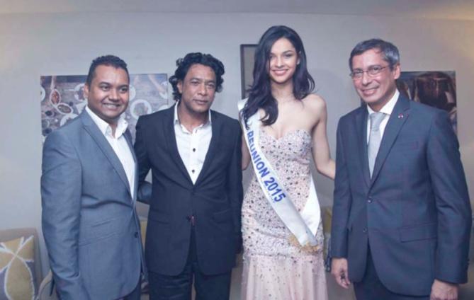Deepak Balgobin, Nando Bodha, Azuima Issa, et Xavier-Luc Duval. Miss Réunion entre deux Ministres du gouvernement mauricien, ça n'arrive pas tous les jours!