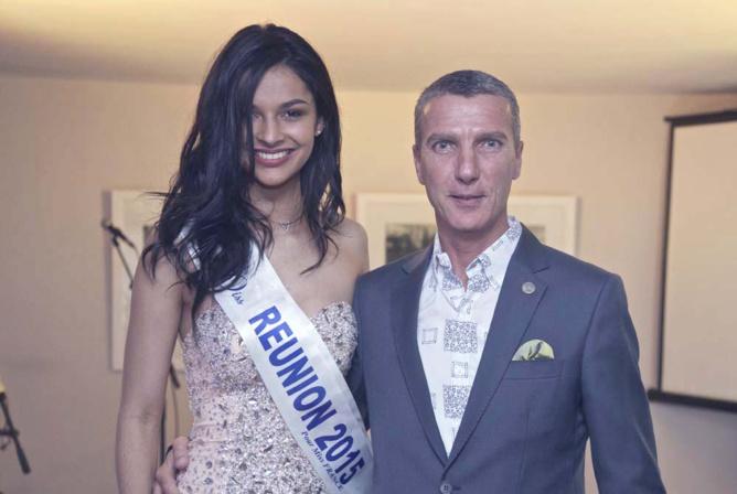 Azuima avec Guido Farina, le directeur général du Shanti Hotel
