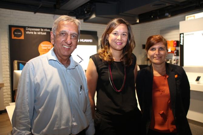 Aziz Patel, Dominique Bazile et Mireille Helou