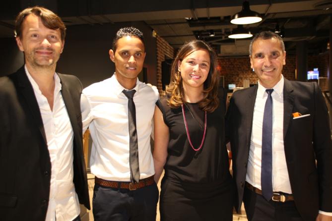 Pierre Clément, directeur Entreprises France, Didier Sornom, Dominique Bazile et Alexandre Karras