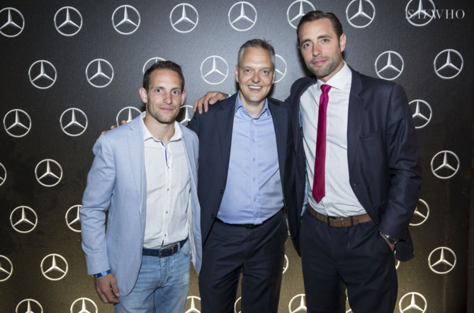 Renaud Lavillenie, Marc Langenbrinck et Arthur Guerin