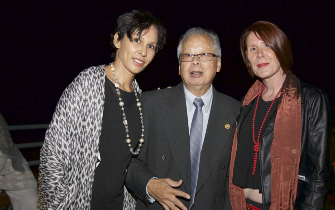 Anne Morel , Henri Won Fah Hin, et Nathalie Morvan, Rotary Club Etang Salé
