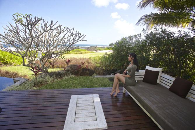 Sur la terrasse de la suite...