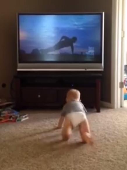 Le bébé fan de Rocky Balboa