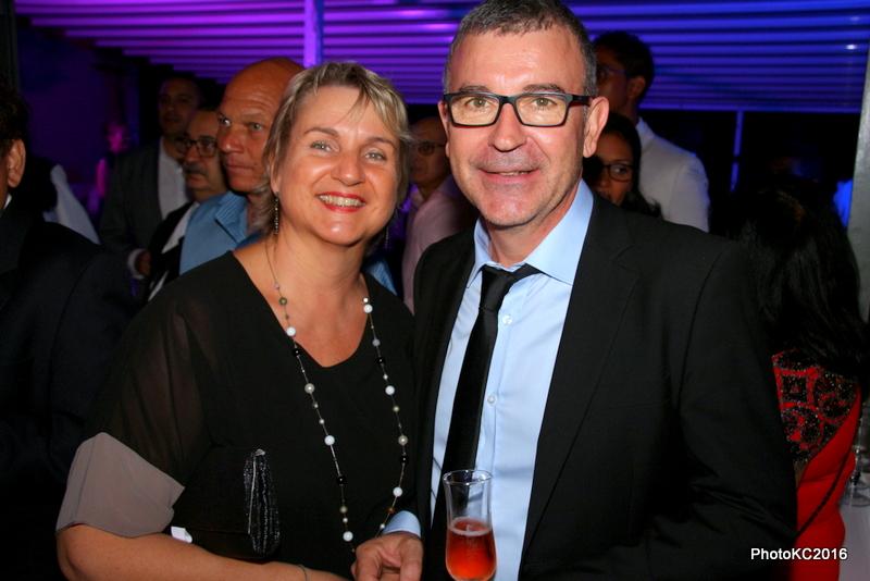 Didier Legendre Directeur de Mercédes-Benz Réunion et sa femme Rose