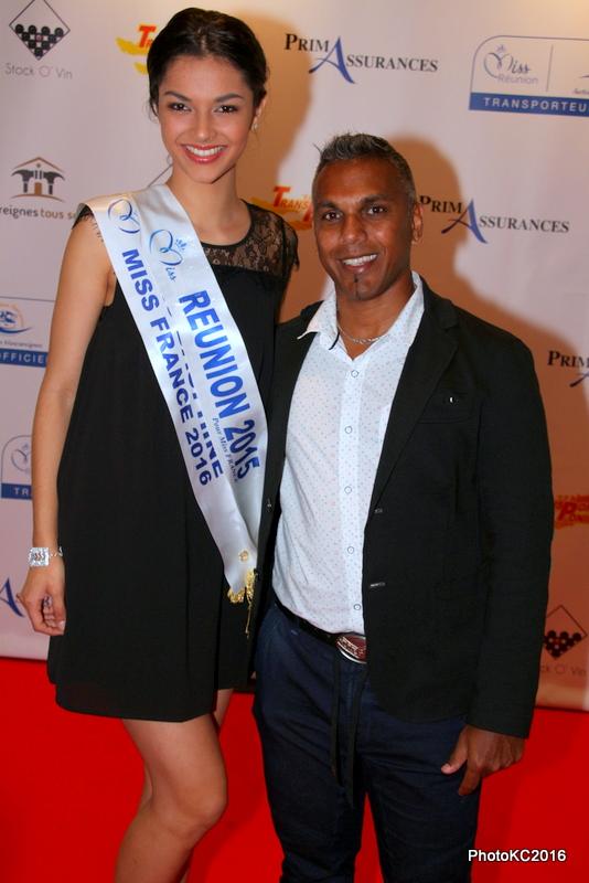 Azuima Issa Miss Réunion 2015 et Rolly Pavedy de Carevent