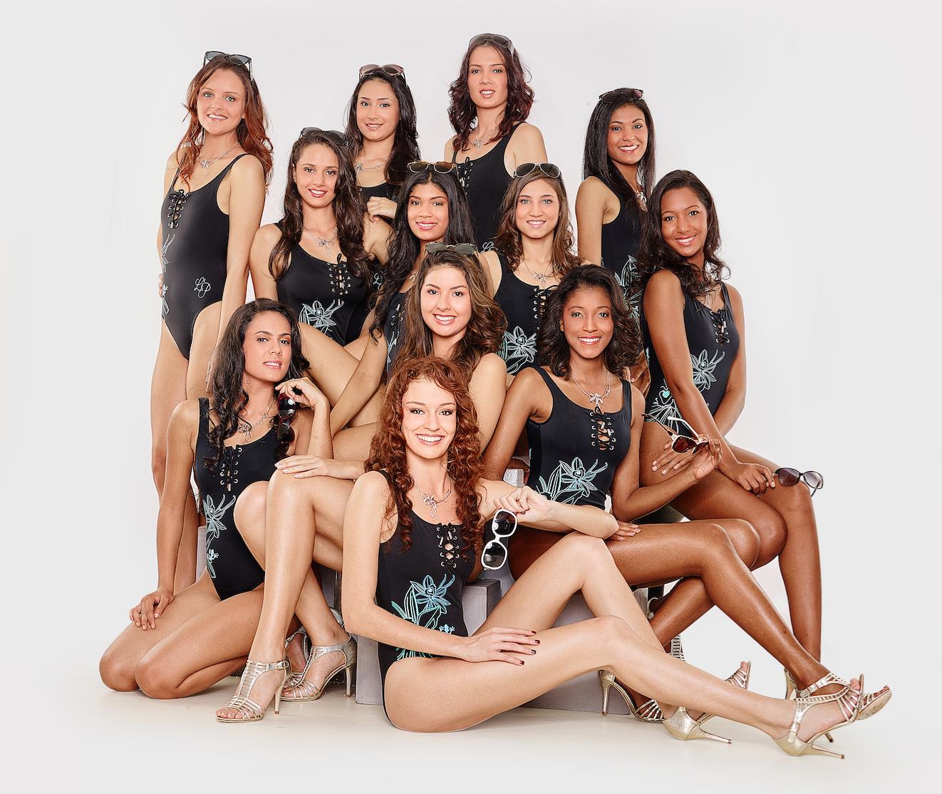 Miss Réunion 2016: les candidates en maillot avant la finale
