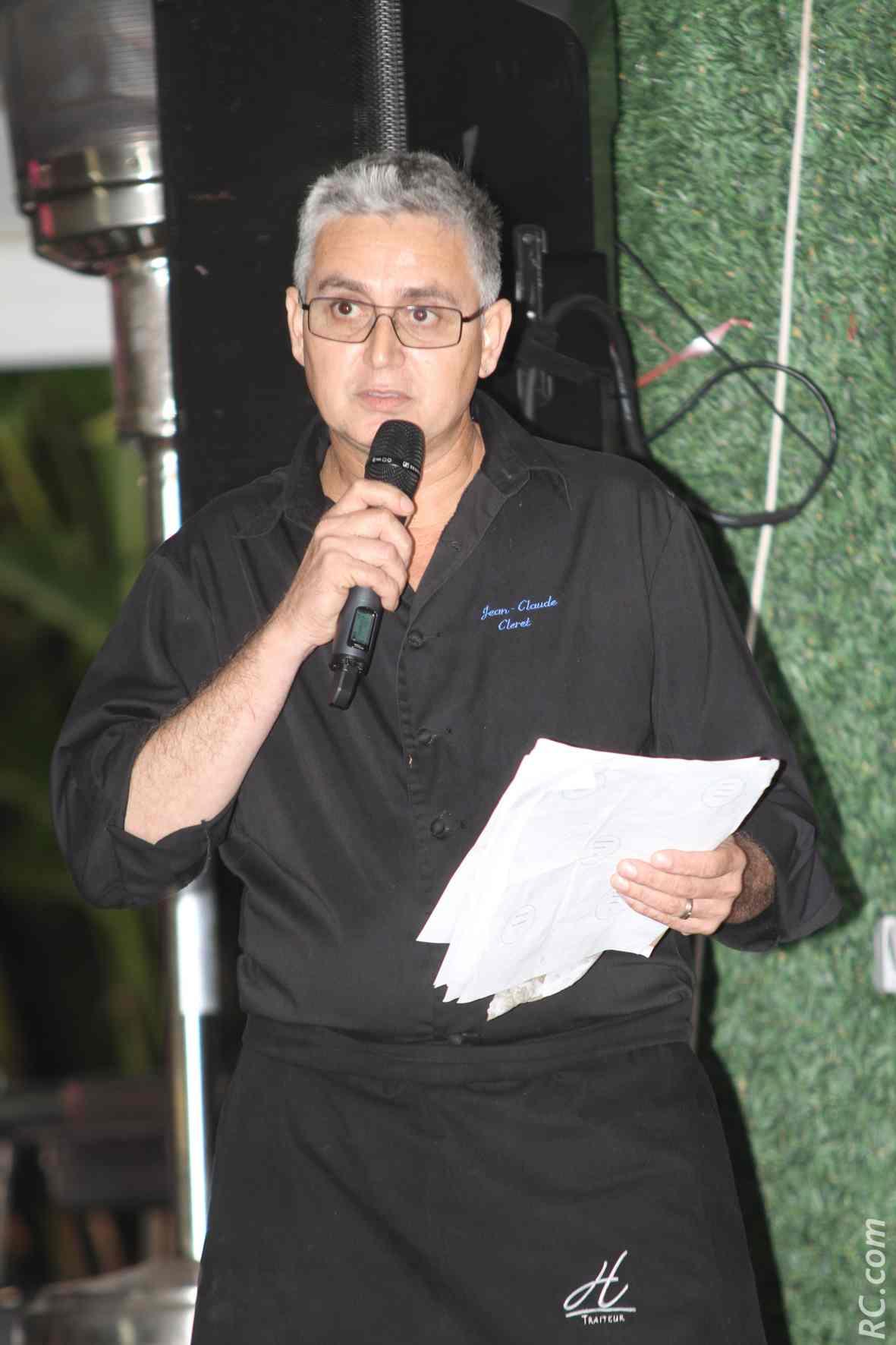 Jean-Claude Cléret, président du Cercle des Epicuriens, organisateur de cet événement