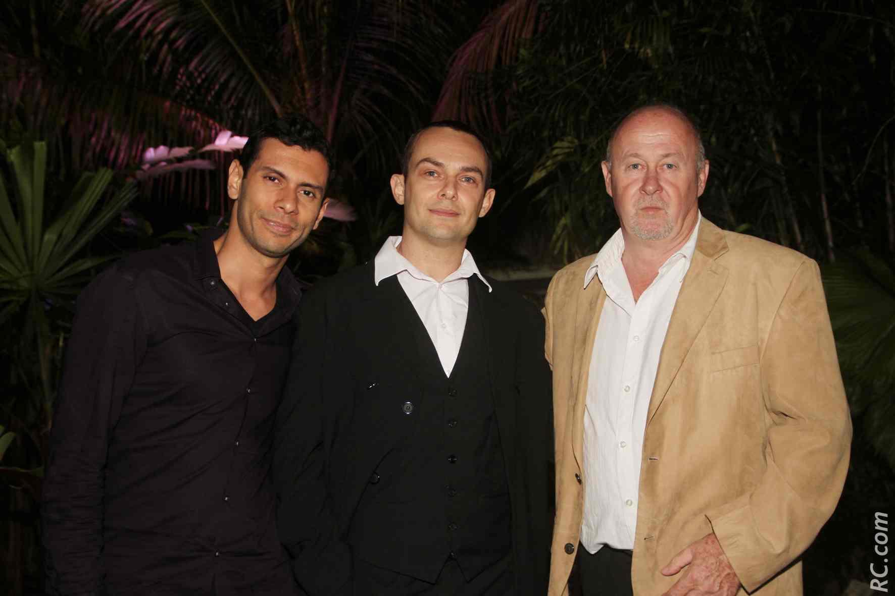 Paul Pascal (à droite) et des invités
