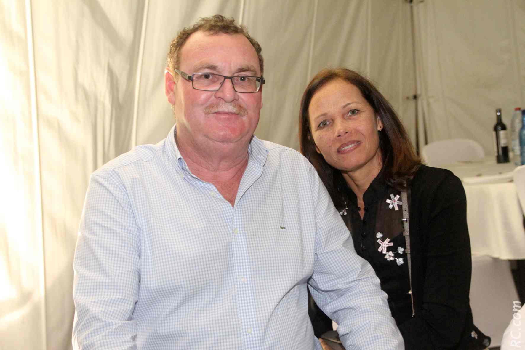 Alin Guezello de la Région et son épouse