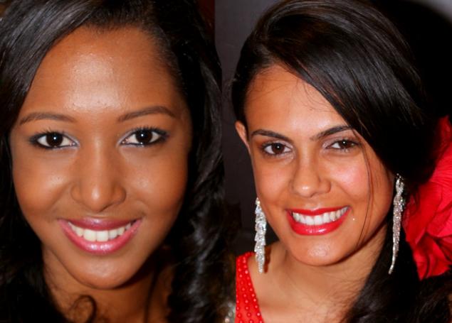 Raïssa Cadarsi et Anaïs Picard, dauphines de Miss Réunion 2016