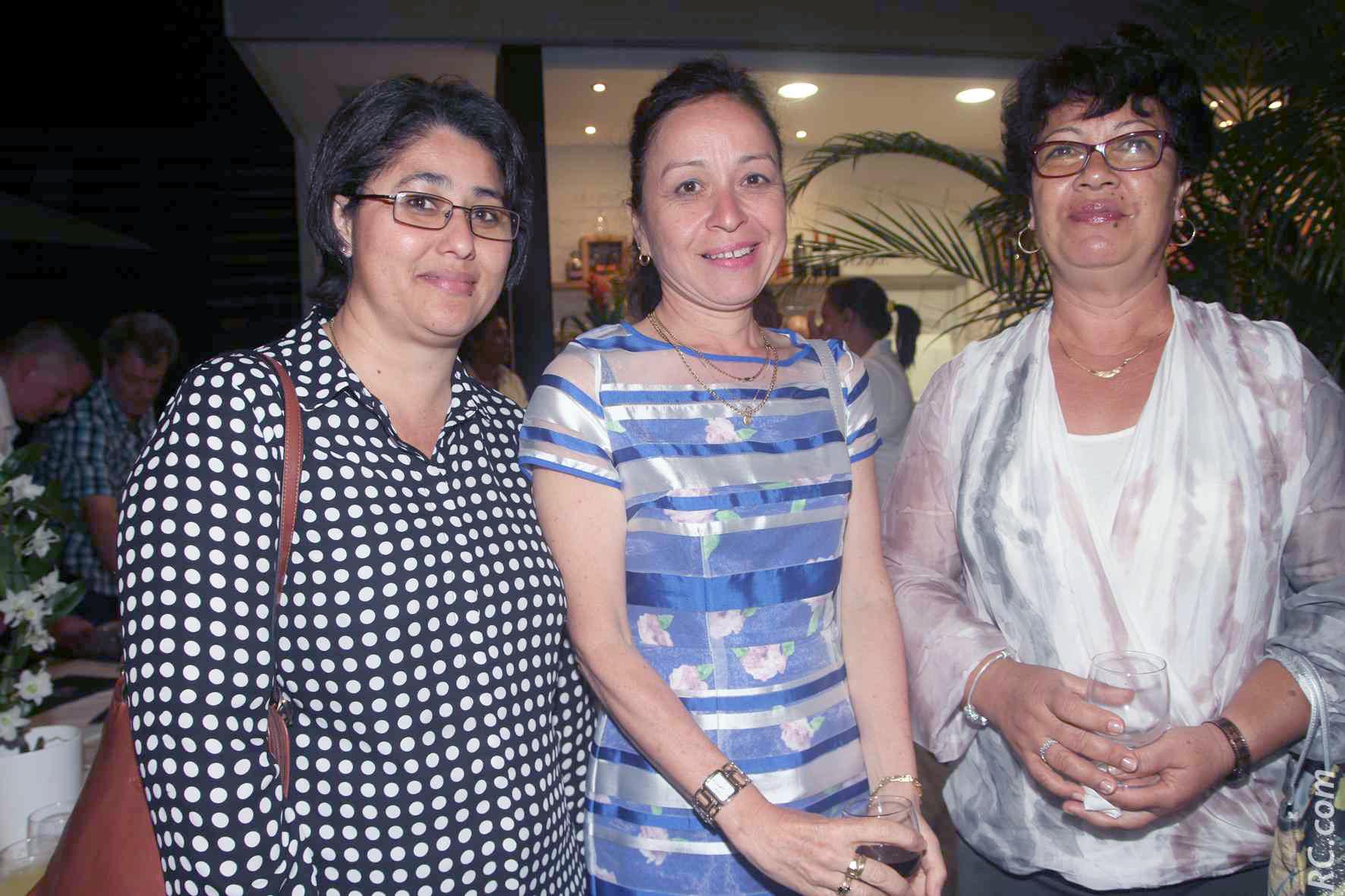 Aline Fong Kaye, directrice du Kono-Kono, Nathalie Biram, directrice de Air-Mauritius de Rodrigues, et Méricie Limock, directrice d'école et propriétaire du Guest House le Manoir