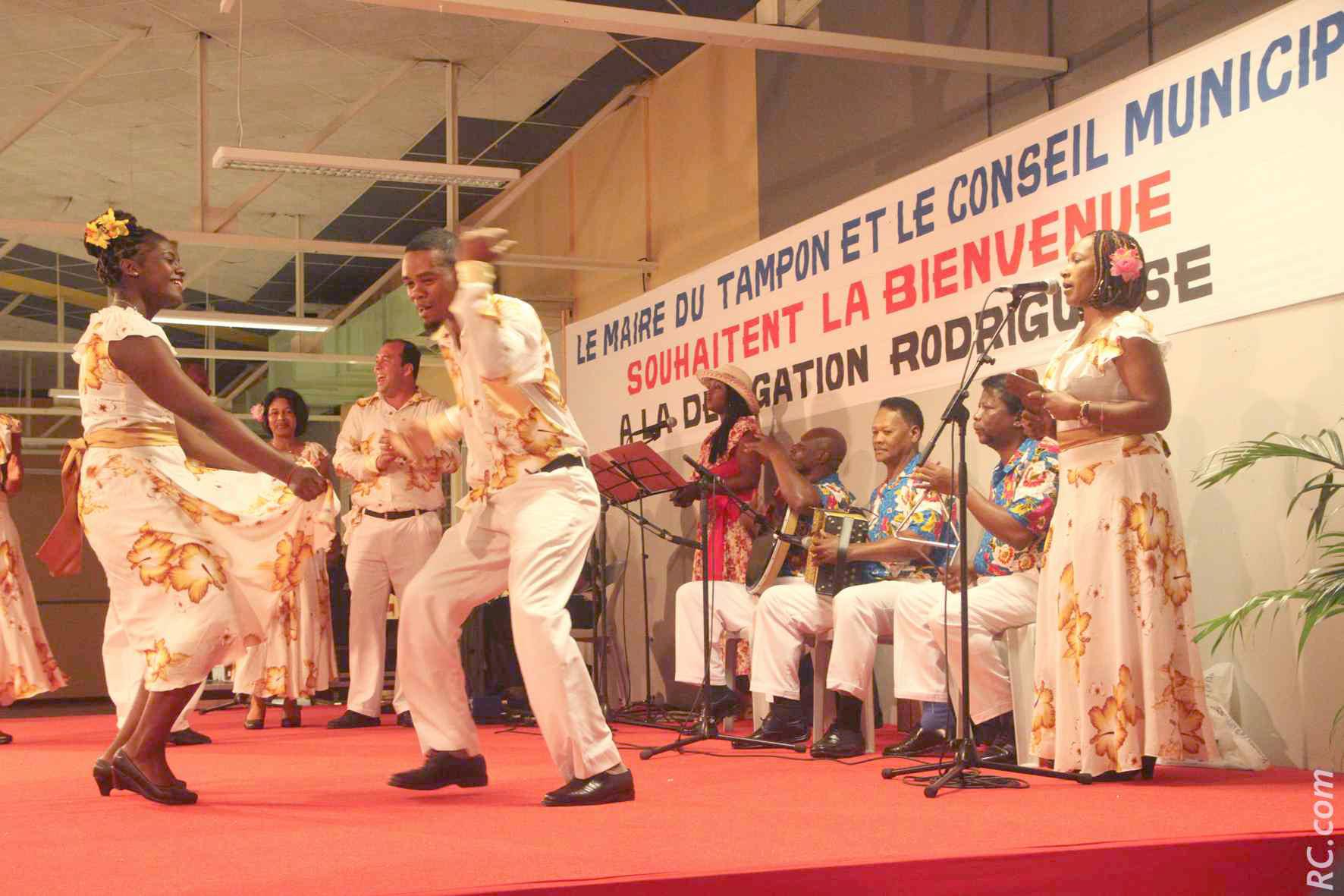 La troupe Betyver de Rodrigues a assuré l'ambiance