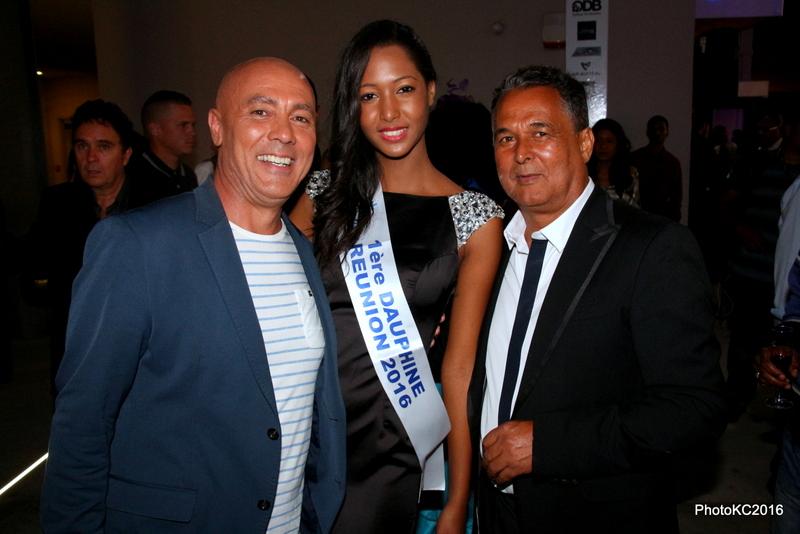Dominique Barret, Raïssa Cardarsi 1ère Dauphine de Miss Réunion 2016 et Denis Vergoz