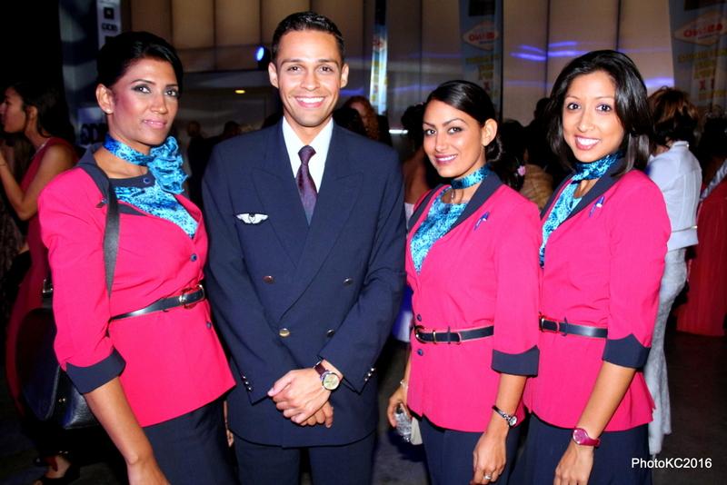 Les stewards de la compagnie aérienne Air Austral