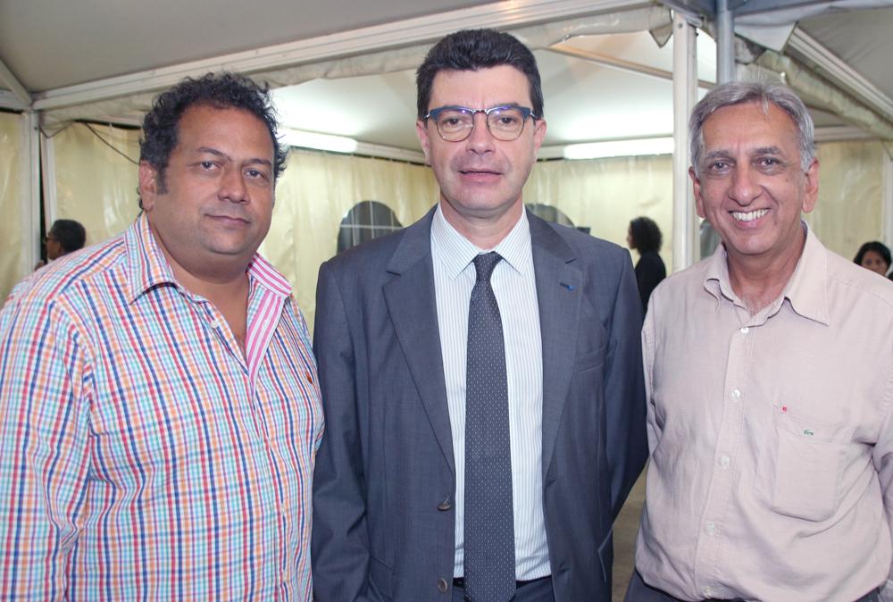 Didier Annette, Maurice Barate et Aziz Patel