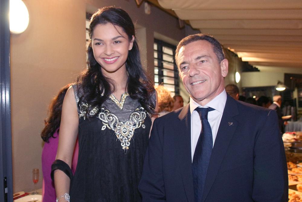 Azuima Issa et Jean-Marc Grazzini, directeur général d'Air Austral
