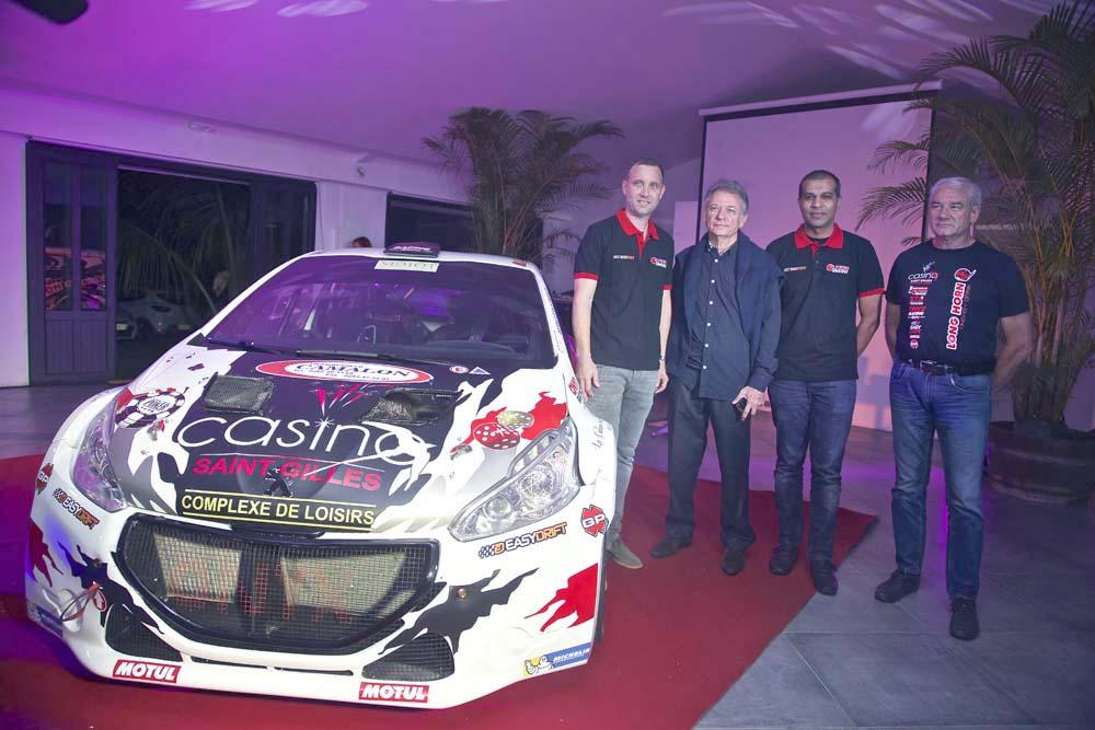 Avec Jean-Pierre Ollivier, président du Corsa, et Philippe Lherminez