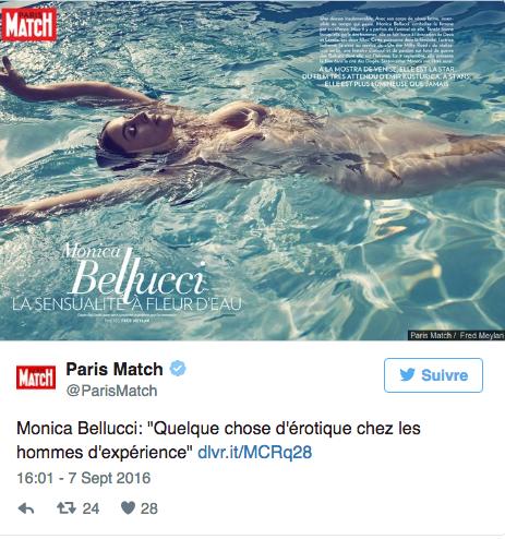 Photo: capture d'écran Twitter Paris Match
